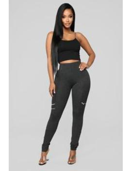 Down To Ride Ponte Pants   Grey by Fashion Nova