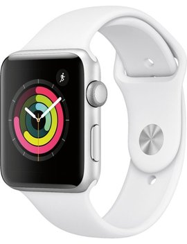 Apple Watch Series 3 (Gps), 42mm Silver Aluminum Case With White Sport Band   Silver Aluminum by Apple