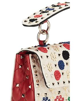 Rockstud Spike.It Small Canvas & Leather Shoulder Bag by Valentino Garavani