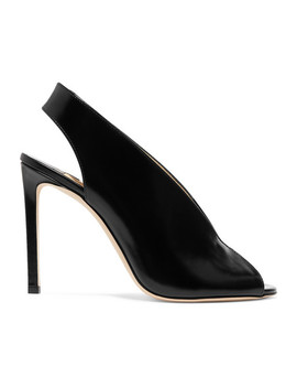 Shar 100 Glossed Leather Slingback Pumps by Jimmy Choo