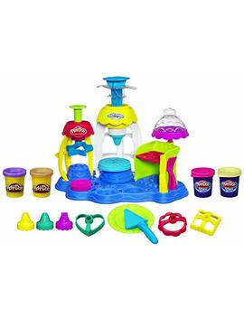 Play Doh Frosting Fun Bakery Cake And Cupcake Toy With 4 Non Toxic Colors, Including Play Doh Plus (Amazon Exclusive) by Play Doh