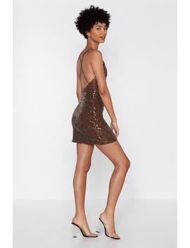 Don't Cross Me Sequin Dress by Nasty Gal