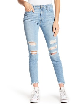 The Charlie High Waisted Destroyed Ankle Jeans by Joe's Jeans
