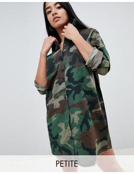 Missguided Petite   Camo Overhemdjurk by Asos