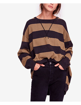 Surfin On Your Stripes High Low Cotton Sweater by Free People