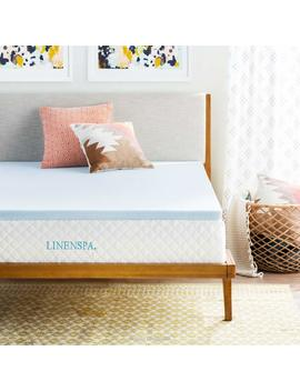 Linenspa 2 Inch Gel Infused Memory Foam Mattress Topper, Twin by Linenspa
