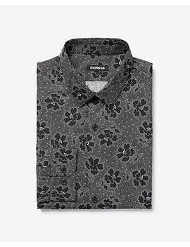 Extra Slim Floral Dot Cotton Dress Shirt by Express