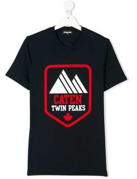 Teen Twin Peaks Print T Shirt by Dsquared2 Kids
