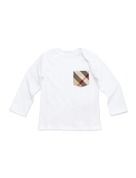 Callum Long Sleeve Jersey Tee, Size 3 M 3 Y by Burberry