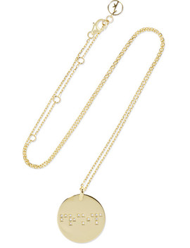 Friendship 9 Karat Gold Diamond Necklace by Anissa Kermiche