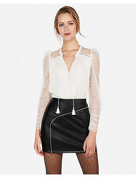 Edition Lace Blouson Sleeve Blouse by Express