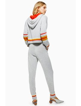 Striped Joggers With Cashmere by Topshop