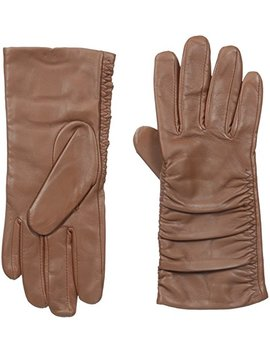 Adrienne Vittadini Women's Leather Gloves With 100 Percent Cashmere Lining by Adrienne Vittadini