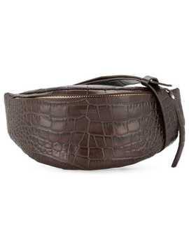 Crocodile Effect Belt Bag by Nanushka