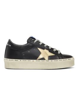 Black Hi Star Platform Sneakers by Golden Goose