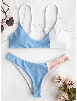 Zaful Color Block Bikini Set   Multi M by Zaful