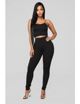 Down To Ride Ponte Pants   Black by Fashion Nova
