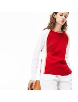Women's Made In France Crew Neck Sweater by Lacoste