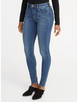 High Rise Built In Warm Rockstar Super Skinny Jeans For Women by Old Navy