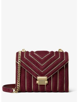Whitney Large Quilted Suede Convertible Shoulder Bag by Michael Michael Kors
