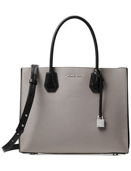 Mercer Lizard Embossed Accordion Tote by Michael Michael Kors