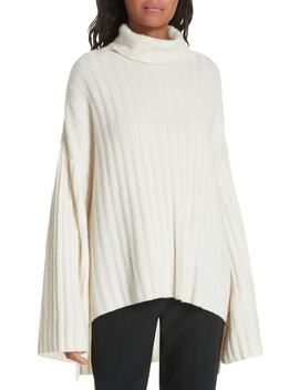Rib Knit Cashmere Oversize Sweater by Milly