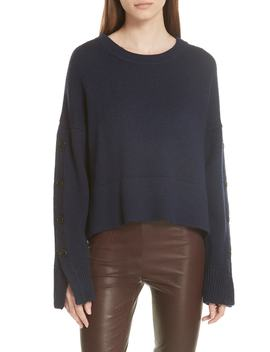 Aquila Button Sleeve Merino Wool Sweater by Grey Jason Wu
