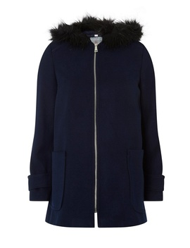 Petite Navy Duffle Coat by Dorothy Perkins