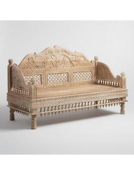 White Antique Carved Wood Bench by World Market