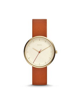 Essentialist Three Hand Luggage Leather Watch by Fossil