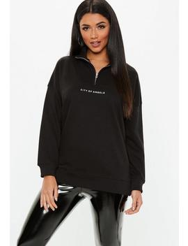 black-city-of-angels-oversized-zip-sweatshirt by missguided