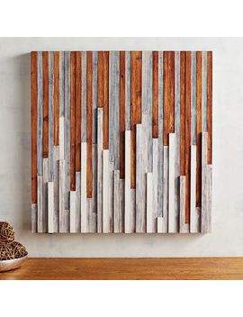 Shiplap Abstract Wall Decor by Pier1 Imports
