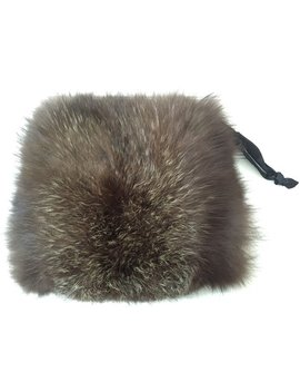 Real Fur Muff   Vintage Fur Muff   Real Raccoon Fur   Nordic Winter   Hand And Arm Warmer by Etsy