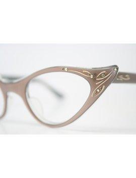 Rhinestone Cat Eye Glasses Cateye Eyeglasses Nos Vintage Mink by Etsy