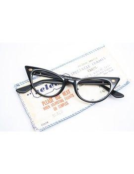Small Cat Eye Glasses Black  Vintage Cateye Eyeglasses by Etsy