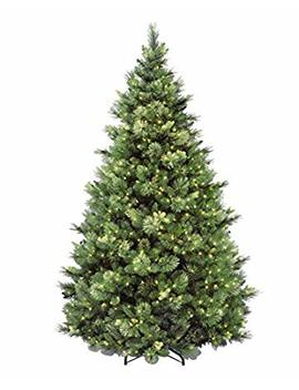National Tree 7.5 Foot Carolina Pine Tree With Flocked Cones And 750 Clear Lights, Hinged (Cap3 306 75) by National Tree Company