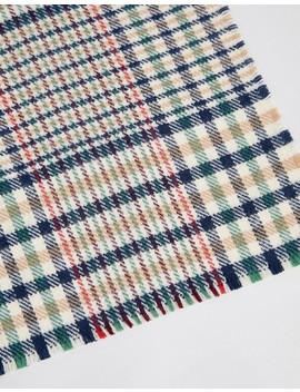 Asos Design Oversized Square 70s Tweed Check Scarf by Asos Design