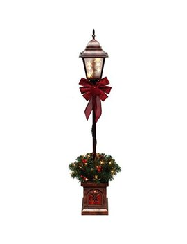 Christmas Lamp Post Tree Pre Lit With 35 Clear Lights, 4 Ft, Outdoor Yard Decor by Pre Lit 4' Christmas Lamp Post