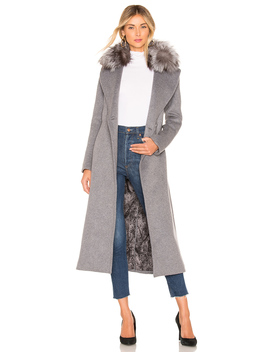 Adelaida Coat With Fur Collar by Soia & Kyo