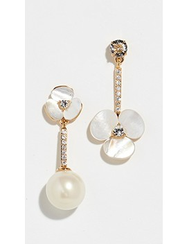 Disco Pansy Asymmetrical Earrings by Kate Spade New York