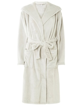 Grey Plain Super Soft Robe by Dorothy Perkins