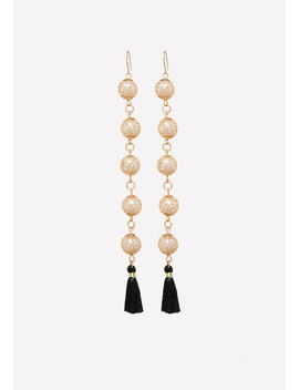 Pearly Linear Earrings by Bebe