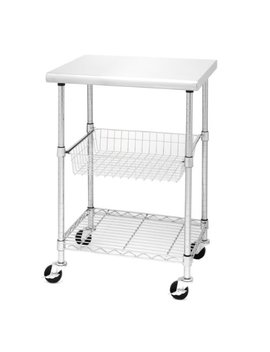 Seville Classics Stainless Steel Professional Kitchen Cart Cutting Table by Seville Classics