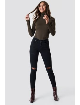 Skinny Mid Waist Destroyed Jeans by Na Kd