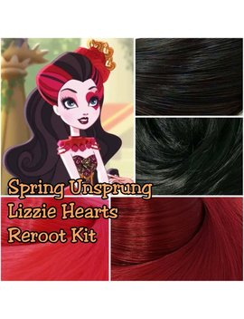 Ever After Spring Unsprung Lizzie Hearts Doll Re Root Pack Nylon Hair Black Red Merlot Kit To Make Your Own by Etsy