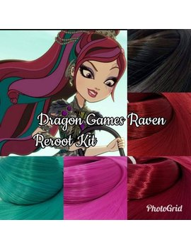 Ever After Dragon Games Raven Movie Version Doll Hair Rerooting Pack For Customizing Your Own Ooak Doll by Etsy