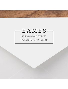 Personalized Return Address Stamp   Modern Address Stamp, Self Inking Return Address Stamp, Wood Address Stamp, Custom Stamp Style No. 42 by Etsy