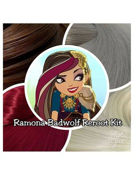 Ever After High Cerise Hood's Sister Ramona Badwolf Doll Hair Rerooting Pack For Customizing Your Own Ooak Doll Intl Ship by Etsy