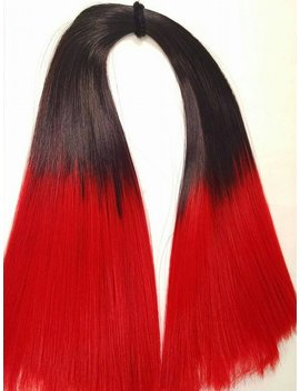 Bad Blood Hand Dyed Ombre Black To Red Nylon Doll Hair For Barbie, Monster High, Ever After, Integrity, Blythe, Rehair Mlp Intl Ship by Etsy