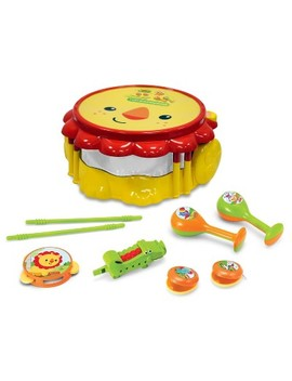 Fisher Price Lion Musical Band Drumset by Fisher Price